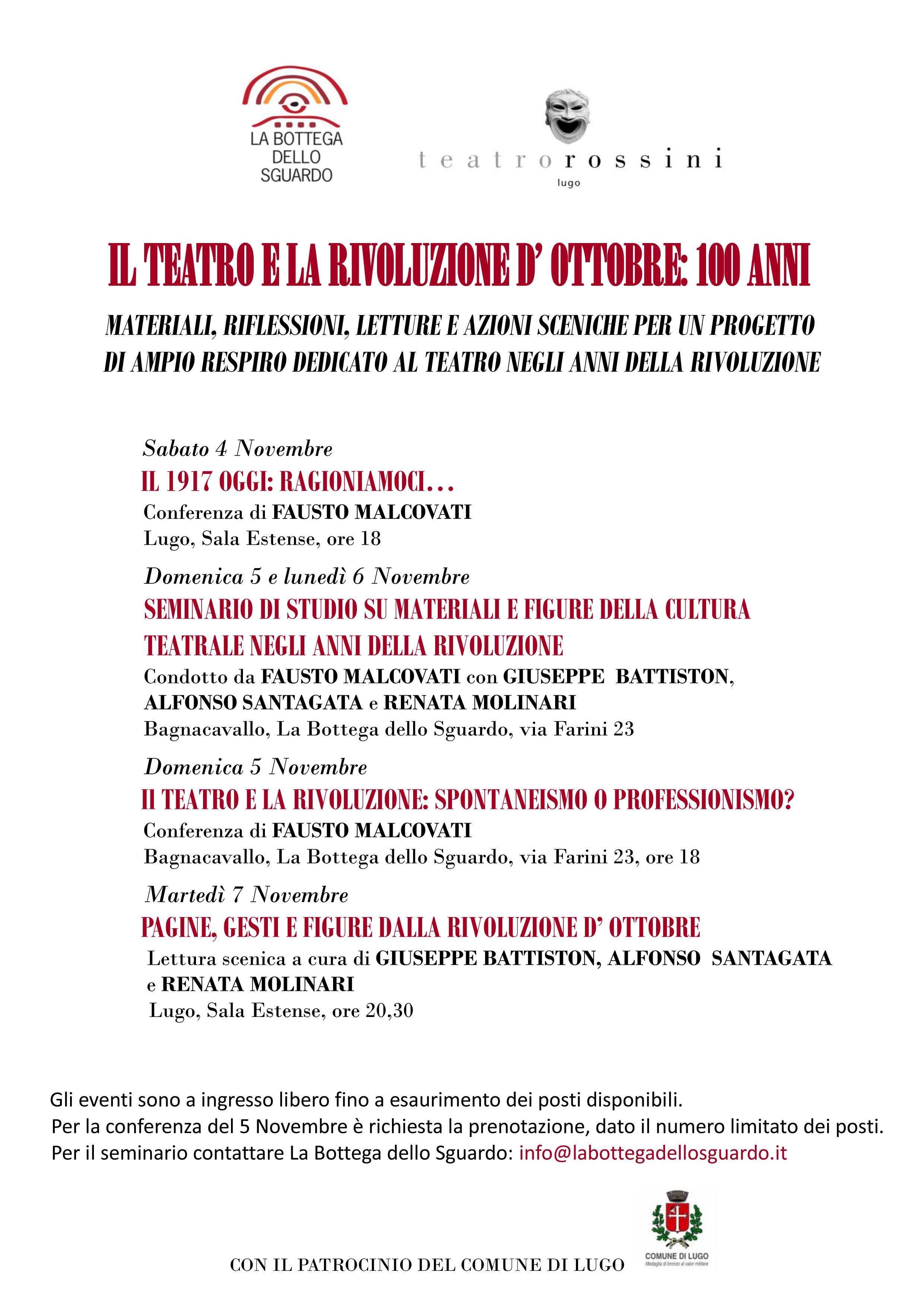 Il TEATRO E LA RIVOLUZIONE D'OTTOBRE: 100 ANNI